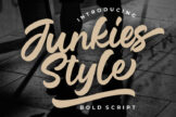 Last preview image of Junkies Style Bold Script