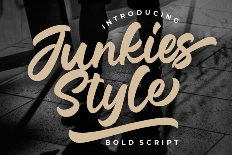 Preview image of Junkies Style Bold Script