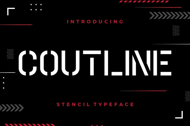 Preview image of Coutline Stencil Typeface