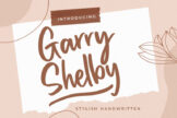 Last preview image of Garry Shelby Stylish Handwritten
