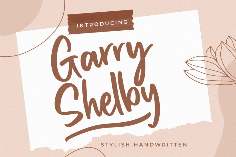 Preview image of Garry Shelby Stylish Handwritten
