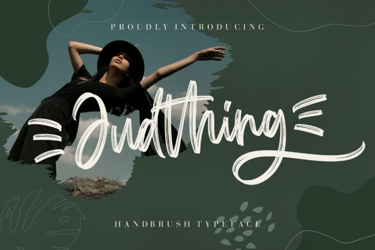 Preview image of Judthing Handbrush Typeface