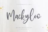 Last preview image of Mackyloo Modern Script