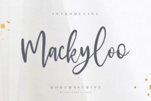 Mackyloo Modern Script