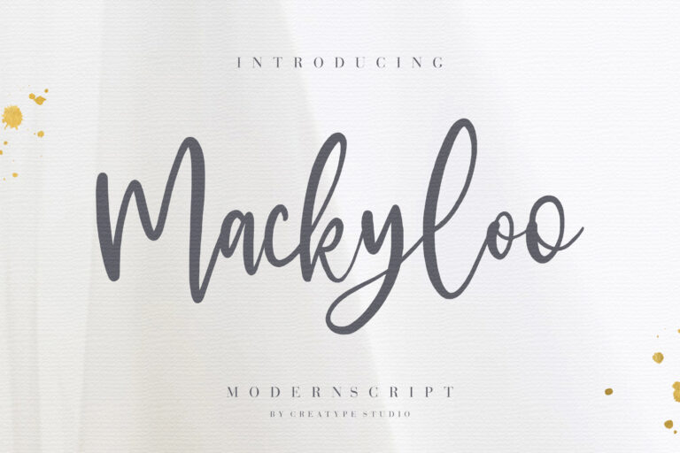 Preview image of Mackyloo Modern Script