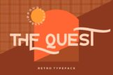 Last preview image of The Quest Retro Typeface