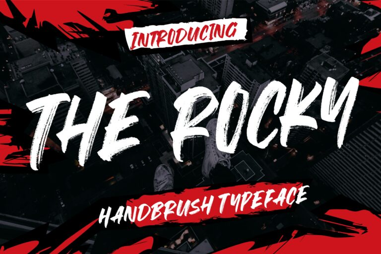 Preview image of The Rocky Handbrush Typeface