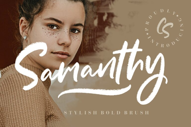 Preview image of Samanthy Stylish Brush Script