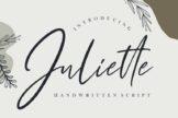 Last preview image of Juliette Handwritten Script