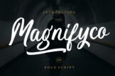 Last preview image of Magnifyco Bold Script