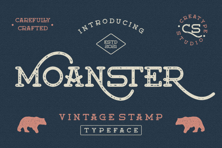 Preview image of Moanster Vintage Stamp
