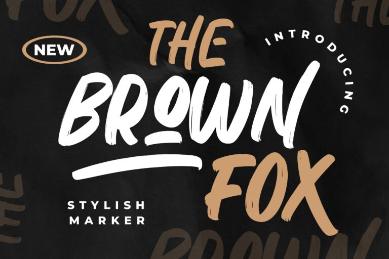 Preview image of The Brown Fox Stylish Marker