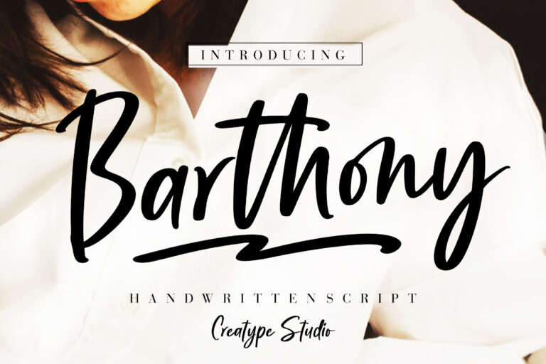 Preview image of Barthony Handwritten Script
