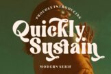 Last preview image of Quickly Sustain Modern Serif