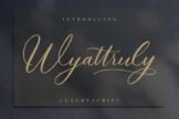 Last preview image of Wyattruly Luxury Script