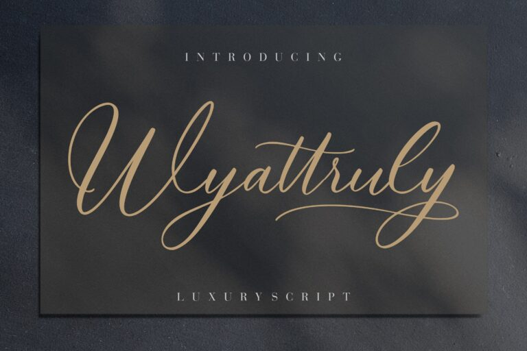 Preview image of Wyattruly Luxury Script