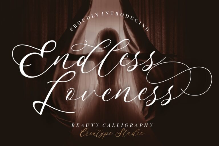 Preview image of Endless Loveness Beauty Calligraphy