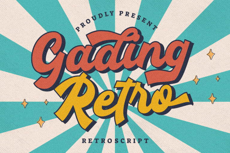 Preview image of Gading Retro Bold Script