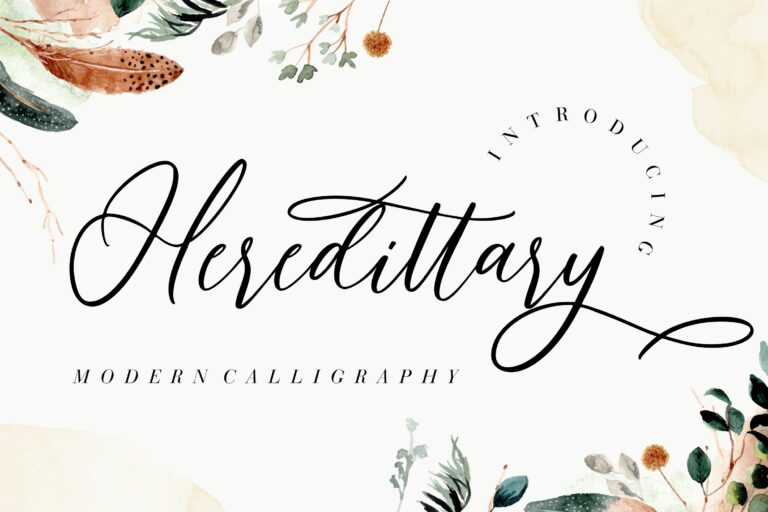 Preview image of Heredittary Modern Calligraphy