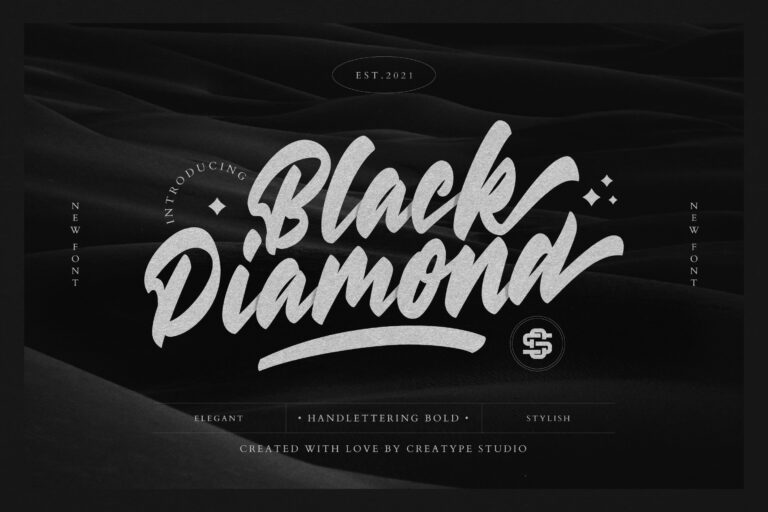 Preview image of Black Diamond Handlettering Bold