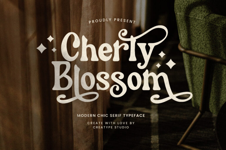 Preview image of Cherly Blossom Modern Chic Serif