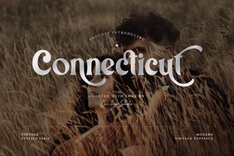 Preview image of Connecticut Modern Vintage Typeface