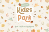 Last preview image of Kidos Park Fun Children Typeface