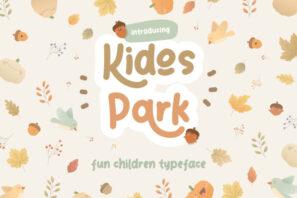 Kidos Park Fun Children Typeface