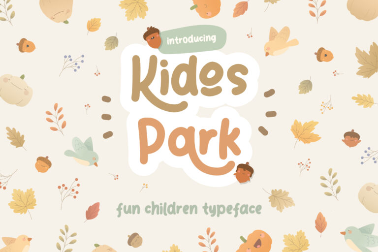 Preview image of Kidos Park Fun Children Typeface