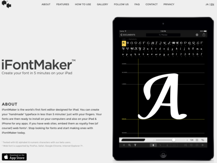 picture of Designing Your Fonts from the Tip of Your Finger: iFontMaker Reviewed