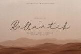 Last preview image of Ballantik Modern Monoline Script