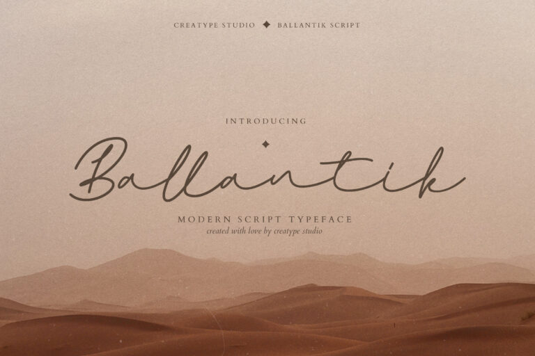 Preview image of Ballantik Modern Monoline Script
