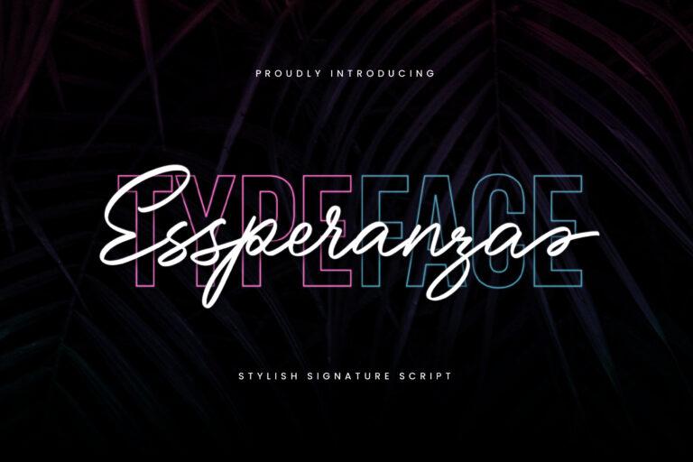 Preview image of Essperanza Stylish Signature Script