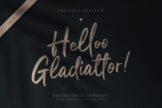 Last preview image of Helloo Gladiattor Brush Script