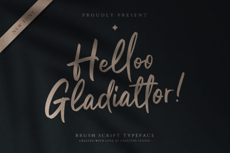 Preview image of Helloo Gladiattor Brush Script