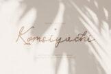 Last preview image of Komsiyochi Monoline Script