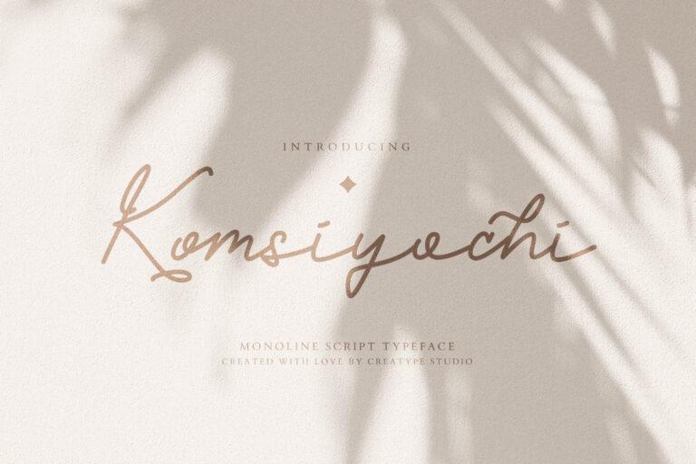 Preview image of Komsiyochi Monoline Script