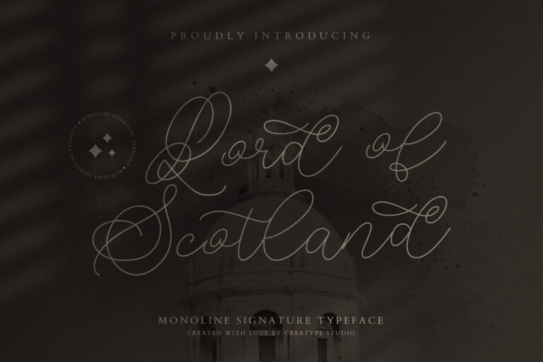 Preview image of Lord of Scotland Monoline Signature
