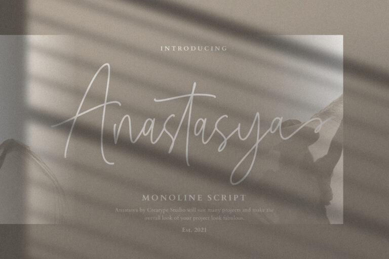Preview image of Anastasya Monoline Script