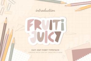 Fruiti Juicy Cut-Out Typeface