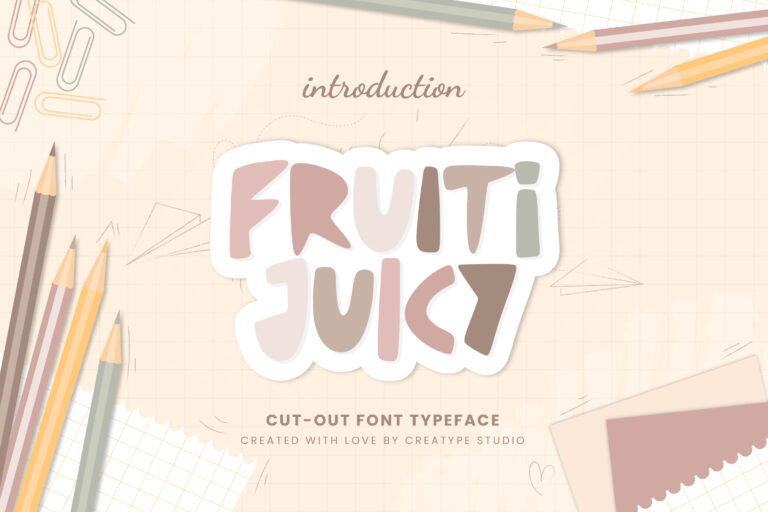Preview image of Fruiti Juicy Cut-Out Typeface