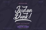 Last preview image of Jordan Dunk Brush Calligraphy