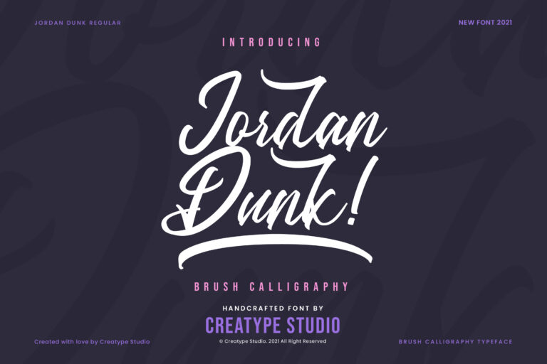 Preview image of Jordan Dunk Brush Calligraphy