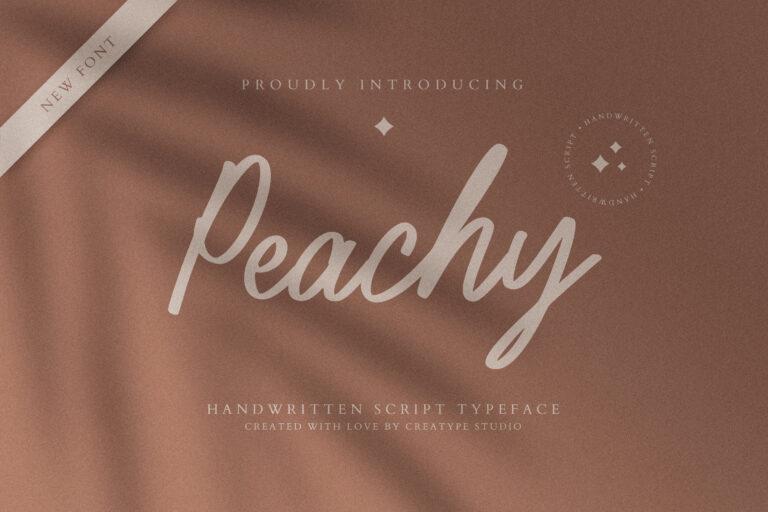 Preview image of Peachy Handwritten Script