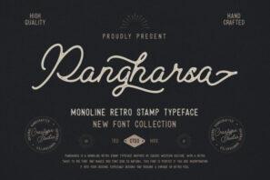 Pangharsa Monoline Retro Stamp
