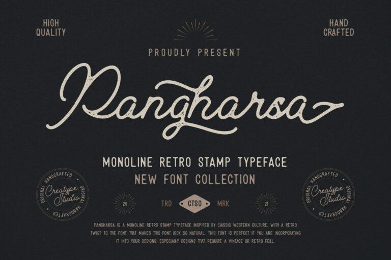 Preview image of Pangharsa Monoline Retro Stamp