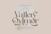Last preview image of Vallery Qylmor Modern Elegant Serif