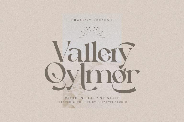 Preview image of Vallery Qylmor Modern Elegant Serif