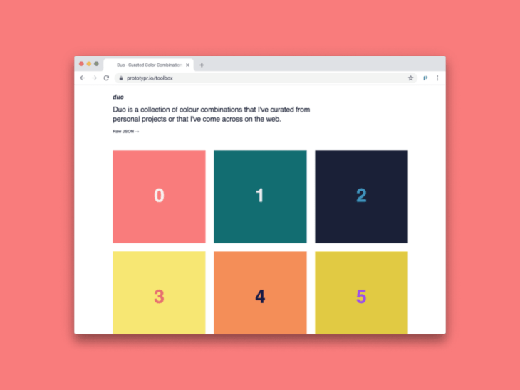 picture of Duo by Alex Pate – A Still Growing Database of Color Combinations