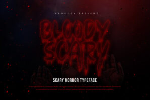 Bloody Scary Horror Typeface